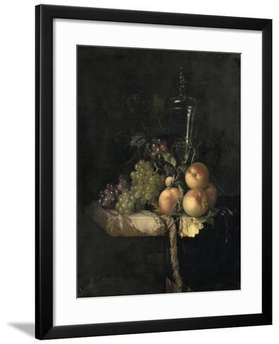 Raisins et pêches-Willem Van Aelst-Framed Art Print