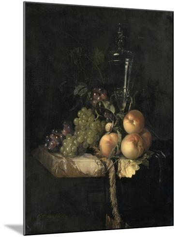 Raisins et pêches-Willem Van Aelst-Mounted Giclee Print