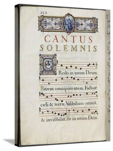 Graduale romanum, exécuté par P. Louis Blouin-J.B. de Bray-Stretched Canvas Print