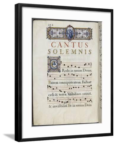 Graduale romanum, exécuté par P. Louis Blouin-J.B. de Bray-Framed Art Print