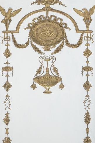 Grand Cabinet intérieur de la Reine (Cabinet doré)-Jean-Hugues Rousseau-Stretched Canvas Print