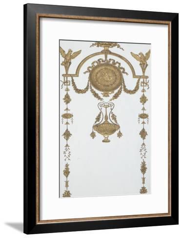 Grand Cabinet intérieur de la Reine (Cabinet doré)-Jean-Hugues Rousseau-Framed Art Print