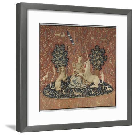 Tenture de la Dame ? la Licorne : la Vue--Framed Art Print
