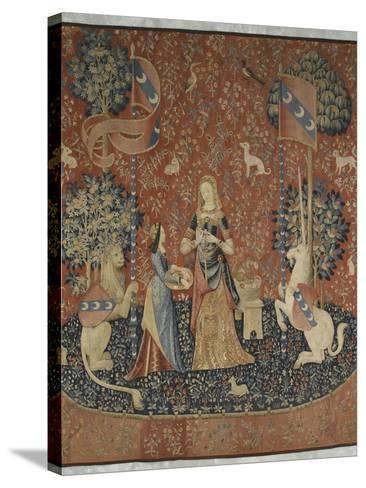 Tenture de la Dame à la Licorne : l'Odorat--Stretched Canvas Print