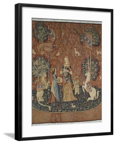 Tenture de la Dame à la Licorne : l'Odorat--Framed Art Print