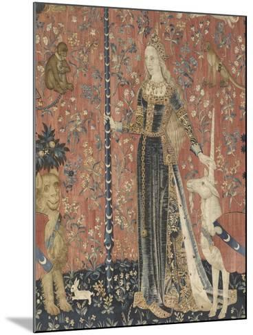 Tenture de la Dame ? la Licorne : le Toucher--Mounted Giclee Print