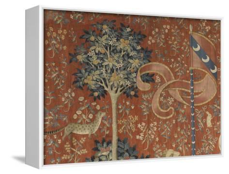 Tenture de la Dame à la Licorne : Le Goût--Framed Canvas Print