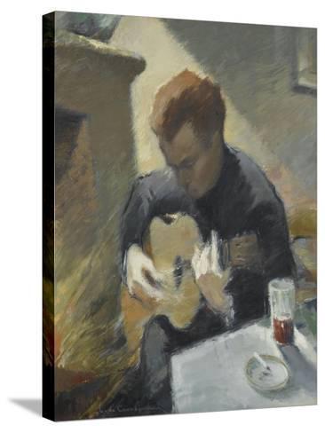 Le guitariste--Stretched Canvas Print