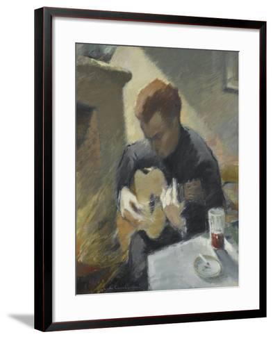 Le guitariste--Framed Art Print