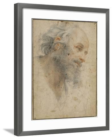 Head of Bearded Man Seen Three-Quarters, Facing Right-Matteo Rosselli-Framed Art Print