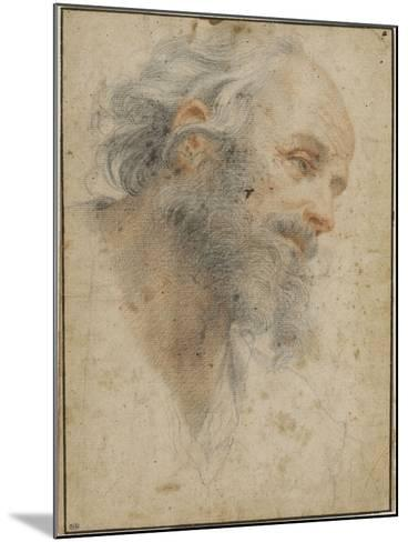 Head of Bearded Man Seen Three-Quarters, Facing Right-Matteo Rosselli-Mounted Giclee Print