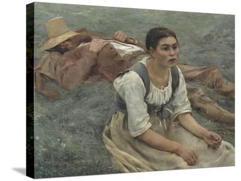 Les foins-Jules Bastien-Lepage-Stretched Canvas Print