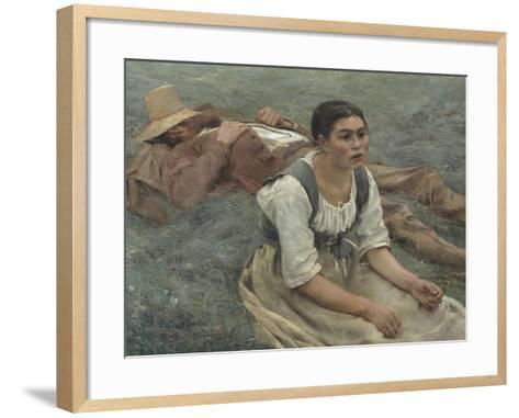 Les foins-Jules Bastien-Lepage-Framed Art Print