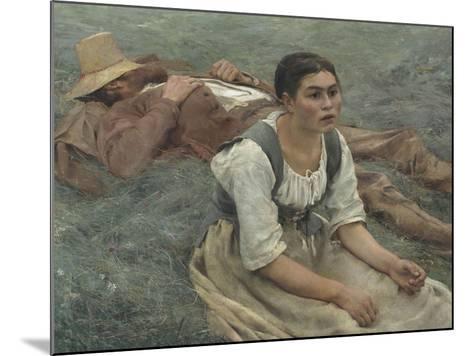 Les foins-Jules Bastien-Lepage-Mounted Giclee Print