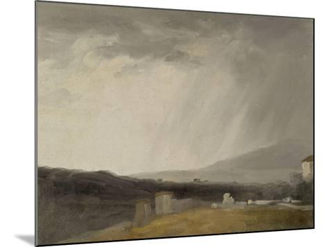 Ciel à la Villa Borghèse : temps de pluie-Pierre Henri de Valenciennes-Mounted Giclee Print