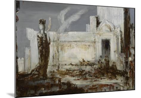 Hélène à la porte Scée-Gustave Moreau-Mounted Giclee Print