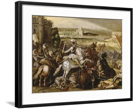 Henry Iv at the Battle of Arques, September 21, 1589--Framed Art Print
