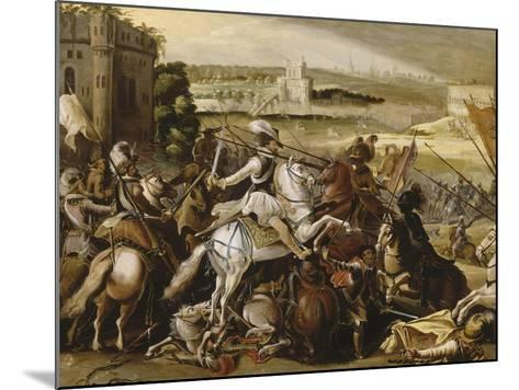 Henry Iv at the Battle of Arques, September 21, 1589--Mounted Giclee Print
