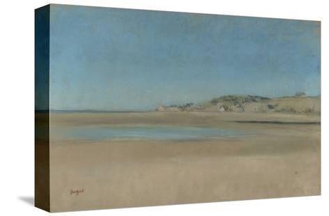 Maisons au bord de la mer-Edgar Degas-Stretched Canvas Print
