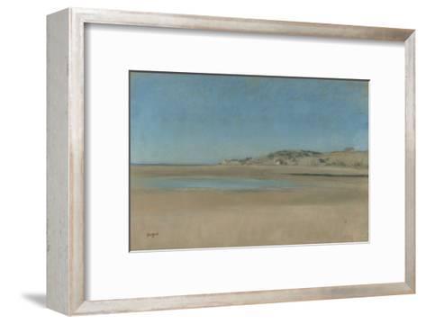 Maisons au bord de la mer-Edgar Degas-Framed Art Print