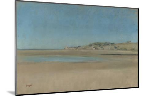 Maisons au bord de la mer-Edgar Degas-Mounted Giclee Print
