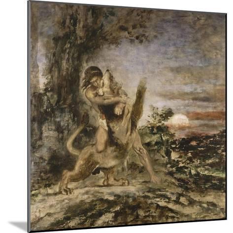 Hercule et le Lion de Némée-Gustave Moreau-Mounted Giclee Print