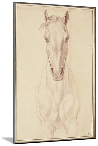 Cheval vu jusqu'aux avant-bras de face-Edme Bouchardon-Mounted Giclee Print