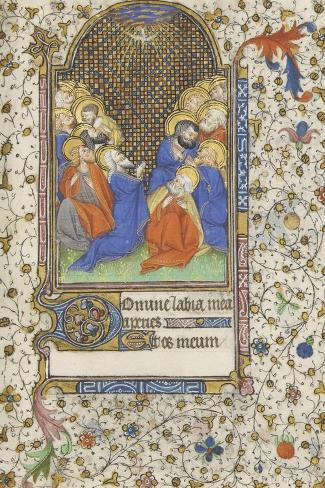Heures à l'usage de Troyes. La Pentecôte--Stretched Canvas Print