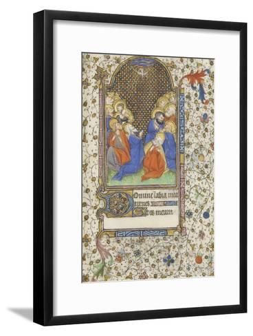 Heures à l'usage de Troyes. La Pentecôte--Framed Art Print