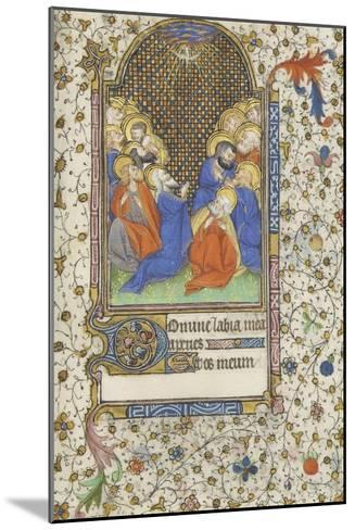 Heures à l'usage de Troyes. La Pentecôte--Mounted Giclee Print
