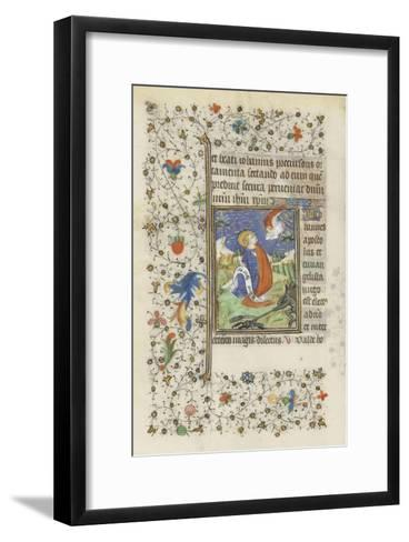 Hours for the Use of Troyes. St. John the Evangelist--Framed Art Print