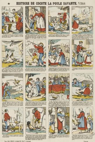 Histoire de Cocotte la poule savante--Stretched Canvas Print