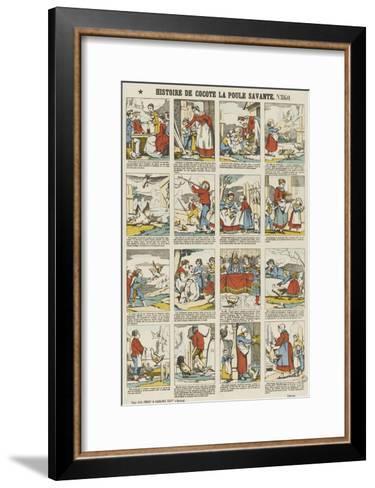 Histoire de Cocotte la poule savante--Framed Art Print