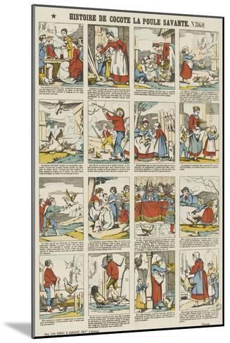 Histoire de Cocotte la poule savante--Mounted Giclee Print