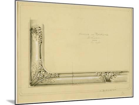 Maison Houel (Luneville, Meurthe-et-Moselle) : projet de plafond-Louis Majorelle-Mounted Giclee Print