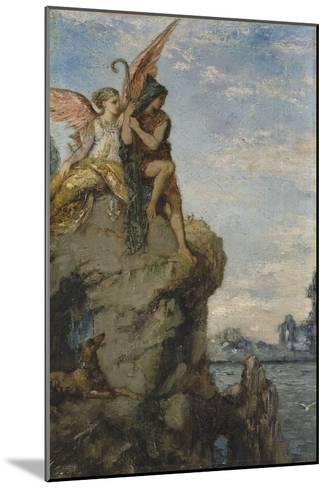 Hésiode et la Muse-Gustave Moreau-Mounted Giclee Print