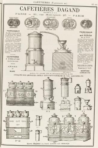 Album illustré de l'Almanach Didot-Bottin : Fabricant de cafetière Dagand--Stretched Canvas Print