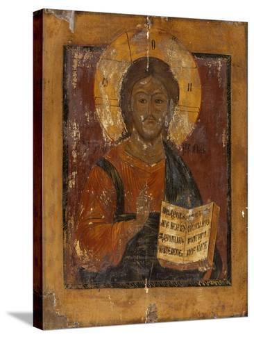 Icône : Christ bénissant--Stretched Canvas Print