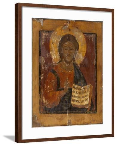 Icône : Christ bénissant--Framed Art Print