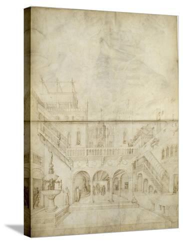Architecture ; Jugement de Salomon-Jacopo Bellini-Stretched Canvas Print