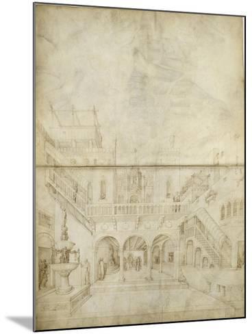 Architecture ; Jugement de Salomon-Jacopo Bellini-Mounted Giclee Print