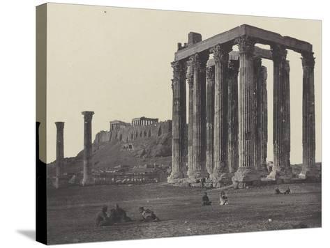 Athènes, le Temple de Jupiter-James Robertson-Stretched Canvas Print