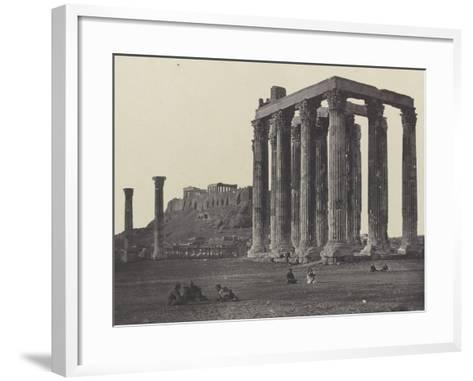 Athènes, le Temple de Jupiter-James Robertson-Framed Art Print