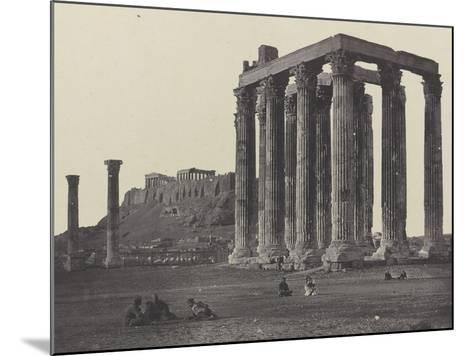 Athènes, le Temple de Jupiter-James Robertson-Mounted Giclee Print