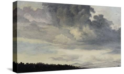 A Rome : étude de ciel chargé de Nuages-Pierre Henri de Valenciennes-Stretched Canvas Print