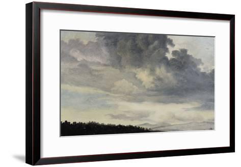 A Rome : étude de ciel chargé de Nuages-Pierre Henri de Valenciennes-Framed Art Print
