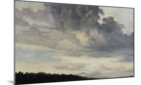 A Rome : étude de ciel chargé de Nuages-Pierre Henri de Valenciennes-Mounted Giclee Print