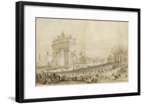 Retour des cendres de Napoléon Ier le 15 décembre 1840--Framed Art Print