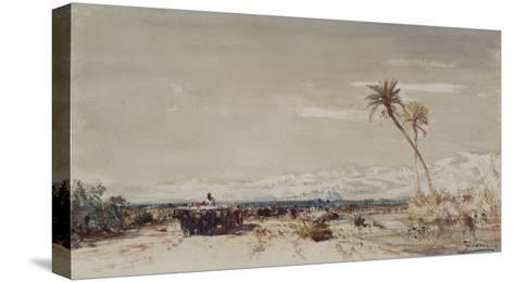 Beyrouth, les deux palmiers-F?lix Ziem-Stretched Canvas Print