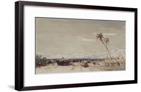 Beyrouth, les deux palmiers-F?lix Ziem-Framed Art Print